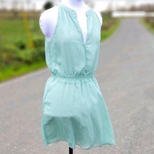 Just fab, Robin egg blue polka dot mini dress, Sm